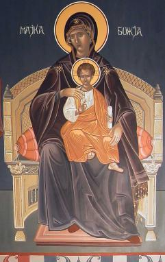 The Most Holy Mother of God enthroned